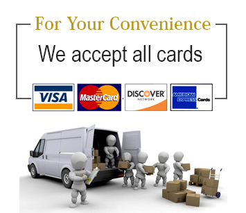 we accept all debit / credit cards